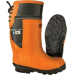 OREGON Lug Sole Chain Saw resistant boot with leather upper.  # 535362