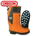 OREGON Lug Sole Chain Saw resistant boot with leather upper Caulked # 535363