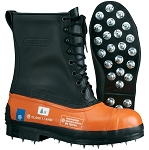 OREGON 537310 Caulked Sole Chain Saw resistant boot with leather upper. # 537310