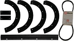 Paddle Scraper Bar Belt Kit For Snapper C3201 , 3201 , SX5200