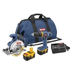Factory Reconditioned Ryobi ZRP824 ONE Plus 18V Cordless Starter Combo Kit Plus