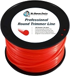 Heavy-Duty Professional Red Round Trimmer Line .095 3LB Spool