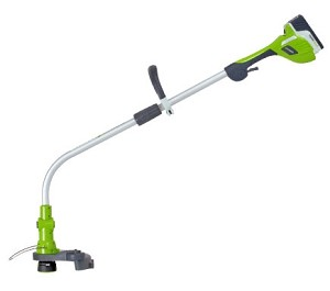 "Greenworks 21602  18"" 20V 12"" Li-ion Battery Trimmer/Edger"