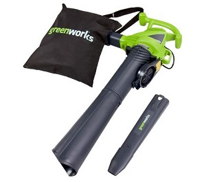 GreenWorks 24022 12-Amp Electric Leaf Blower/Vacuum 2 Speed
