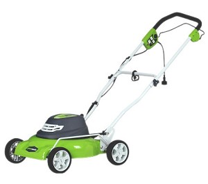 "Greenworks (18"") 12-Amp Electric 2-In-1 Lawn Mower # 25012"