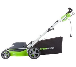 "Greenworks (20"") 12-Amp Electric 3-In-1 Lawn Mower # 25022"