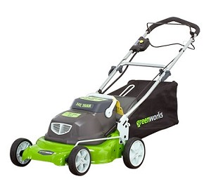"Greenworks (18"") 24-Volt Rechargeable Cordless 2-In-1 Self Propelled Lawn Mower # 25092"