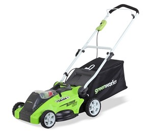 "GreenWorks 25242 40Volt 16"" 2-in1 Push Mower"