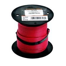 100' Primary Wire Red