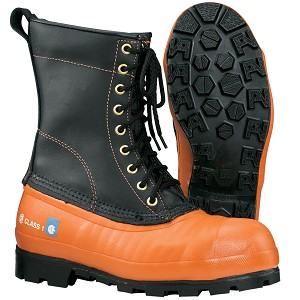 OREGON Lug Sole Chain Saw resistant boot with leather upper. # 537501