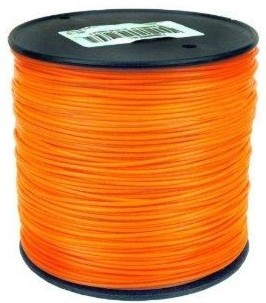 "Orange Square Trimmer line .105"" Gauge 3 Lb Spool Package"