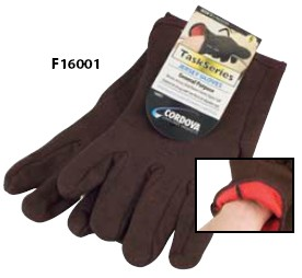 Cordova Gloves  Cotton Jersey Red Lined Slip-on style # F16001